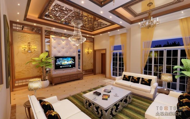 四层新中式别墅装修效果图大全2012图片