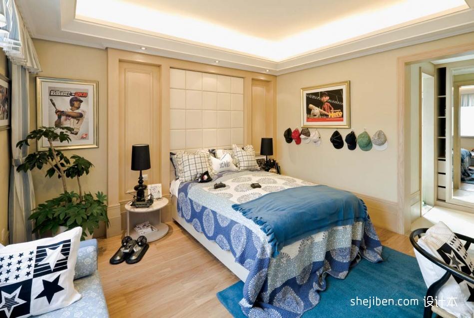 现代简约风格主卧室装修效果图大全2013图片